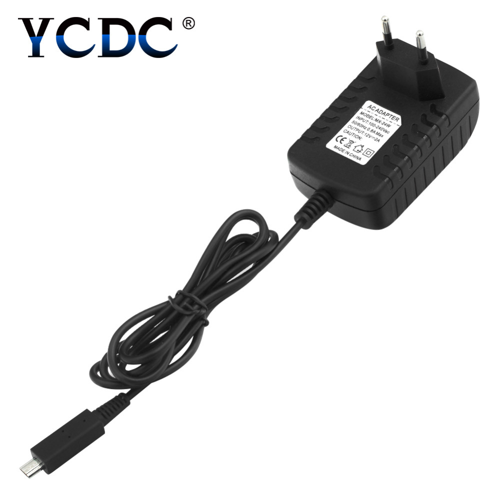 YCDC For Acer Iconia Tab A510 A700 A701 Charger Power Adapter AC DC Charger 12V 2A EU EL5876 original 10 1 inch b101uan02 1 lcd screen display panel for acer iconia tab a700 a701 tablet replacement free shipping