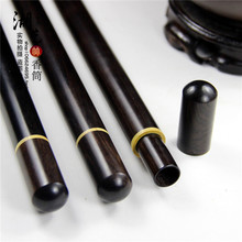 Ebony inlaid Mosaic boxwood long 10 grams of joss stick aloes lie xiang cone incense box tube wholesale