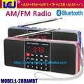 L-288AMBT bajo estupendo sonido estéreo portátil mini altavoz sin hilos de bluetooth con reproductor de música MP3 de radio AM y FM de radio