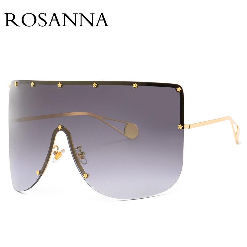 Rosanna vintage escudo viseira máscara óculos de sol dos homens das mulheres 2018 grandes dimensões óculos à prova de vento um peice grande quadro óculos de sol