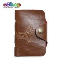 2015 New Genuine Leather Men Purse Short Style Front Buckle Mens Designer Wallet Card Holders Vintage