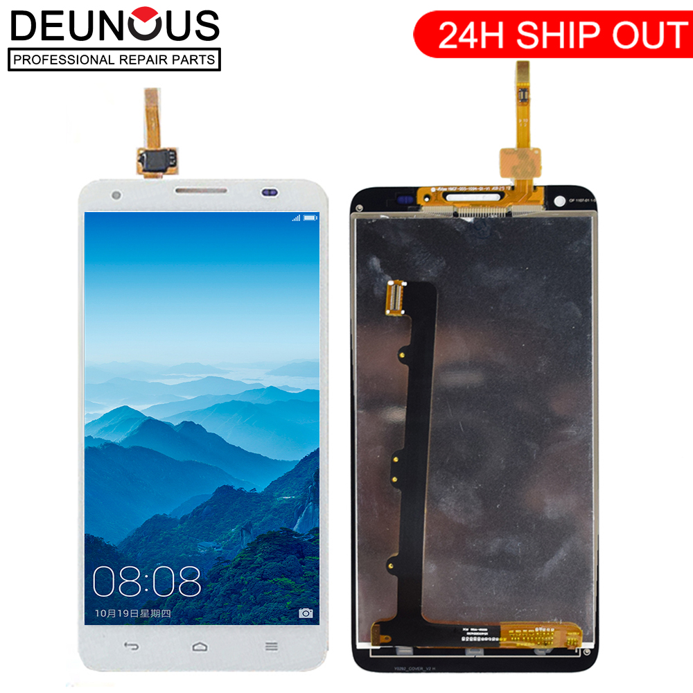 New For <font><b>Huawei</b></font> Honor 3X <font><b>G750</b></font> LCD Display Digitizer Touch Panel Sensor Assembly + Frame <font><b>G750</b></font>-T01 <font><b>G750</b></font>-T00 <font><b>G750</b></font>-<font><b>U10</b></font> image