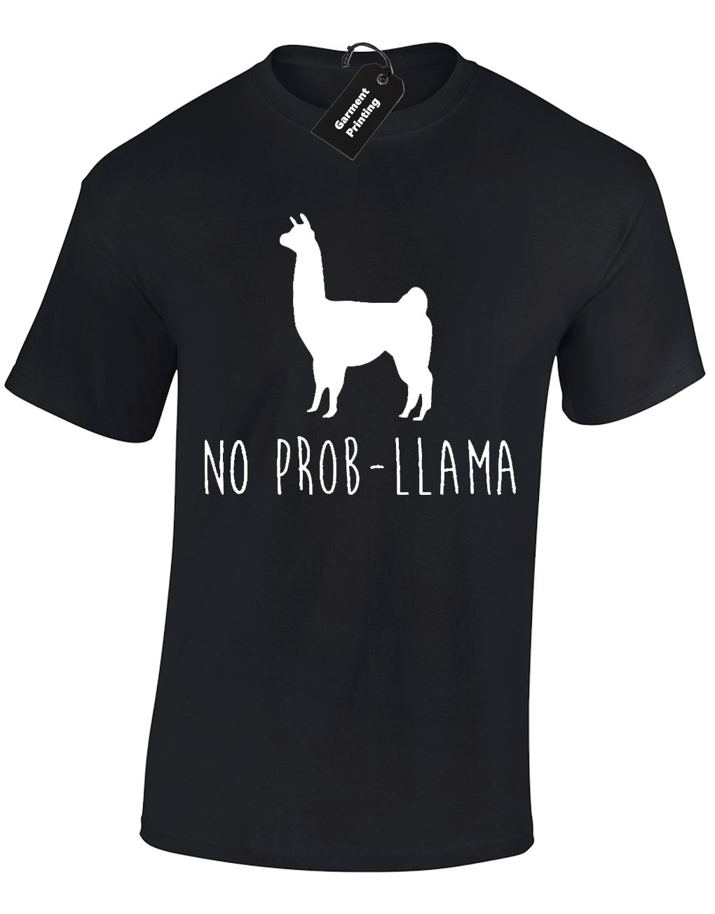 NO PROBLLAMA MENS T SHIRT FUNNY JOKE COMEDY QUALITY PREMIUM DESIGN TOP S - 5XL