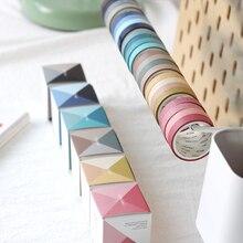 4PCS/Pack Kawaii Solid Color 9mm*3m Washi Tape Set DIY Scrapbooking Masking School Supplies Bullet Journal Papeleria sl1230