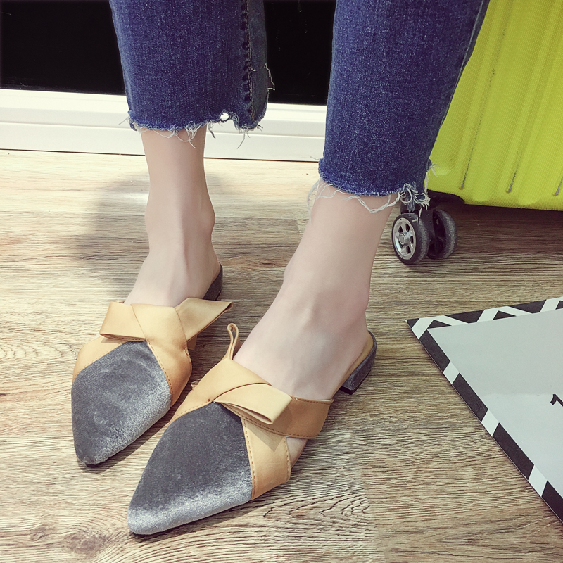 2027d7a0b71 Womens Slide On Slip On Mule Loafer Flats Shoes Slides Slippers New Fashion  Woman Mules Flip Flops dropshipping