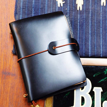 Endless Flame S Small Real Genuine Cowhide Leather Travel Journal Business Notebook Study Diary Blank Lined Grid Papers