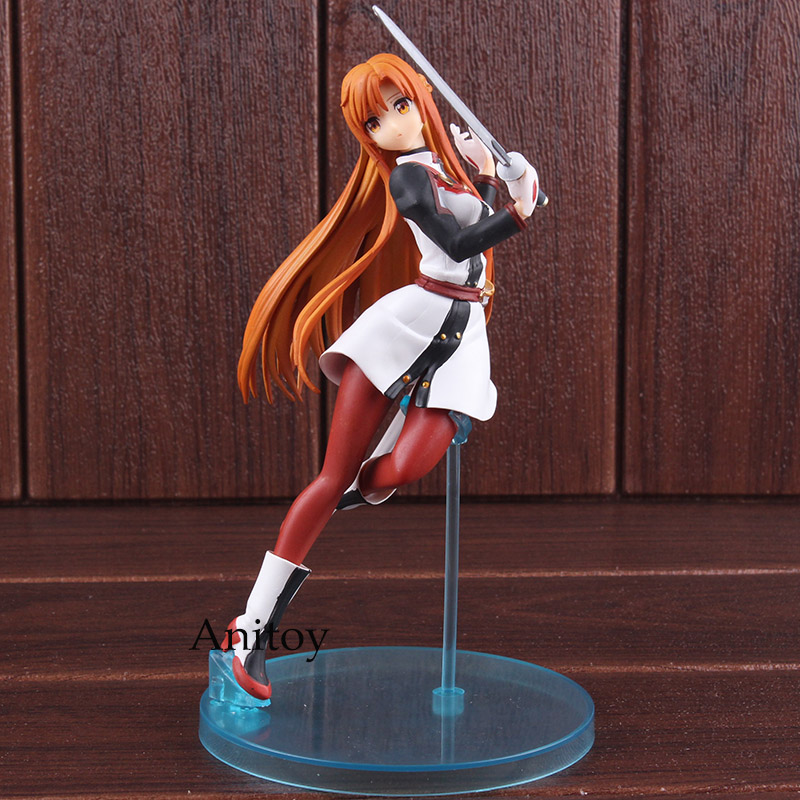 Sword Art Online Yuuki Asuna PVC Anime Action Figure Collectible Model Toy j g chen free shipping japanese anime sword art online asuna pvc action figure toy 22cm cute aincrad figure with box