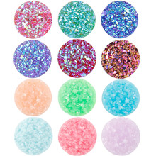 Hot 12mm 20PCS/Pack Mix Colors Flat back Resin Cabochons DIY Hair Clip Bracelets Jewelry Wholesale(China)