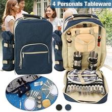 Bolsa de Picnic portátil para acampar al aire libre, mochila para Picnic, mochila para barbacoa, paquete de herramientas para 4 personas