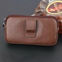 Zipper Man Belt Clip Genuine Cow Leather Mobile Phone Belt Clip Case For Lenovo P2 P2a42