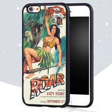 Funny katy perry roar Printed Mobile Phone Cases Bags For iPhone 6 6S Plus 5 5S 5C SE 4 4S Soft TPU Skin Back Cover Shell OEM