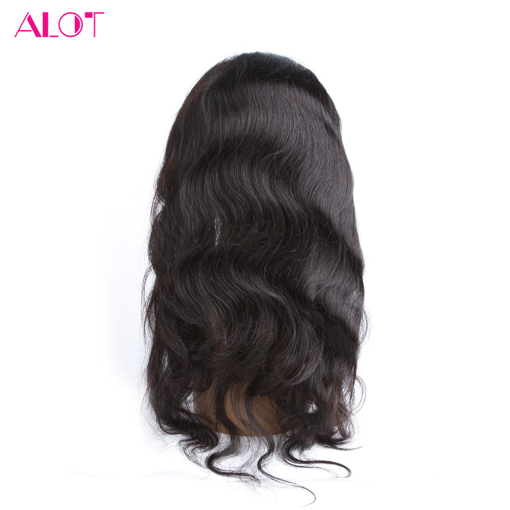 ALot Peruvian Body Wave 22*4*2 Pre Plucked 360 Lace Frontal with Baby Hair Free Part Closure 100% Human Hair Non Remy Hair
