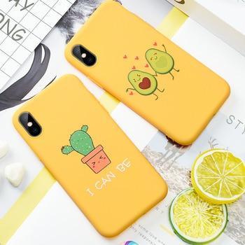 Для iPhone 6 6S 5s SE 8 8Plus X 7 7Plus XS Max Cute Avocado Love Heart Мягкая силиконовая коробка для сладостей для iPhone XR XS MAX XS Capa