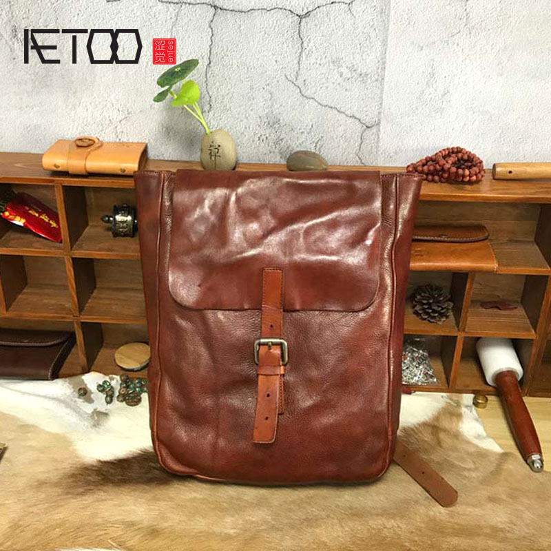 AETOO New leather retro hand-colored wash water tree skin leather traveAETOO New leather retro hand-colored wash water tree skin leather trave