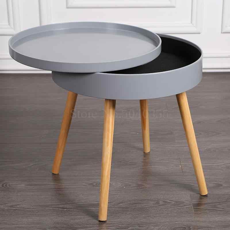 Nieuw Massief houten Nordic creatieve salontafel eenvoudige side bank LQ-52