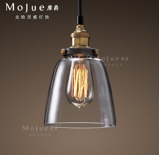 Modern home loft vintage glass dining room pendant light american bar glass lights pendant light ac90-265v free shipping