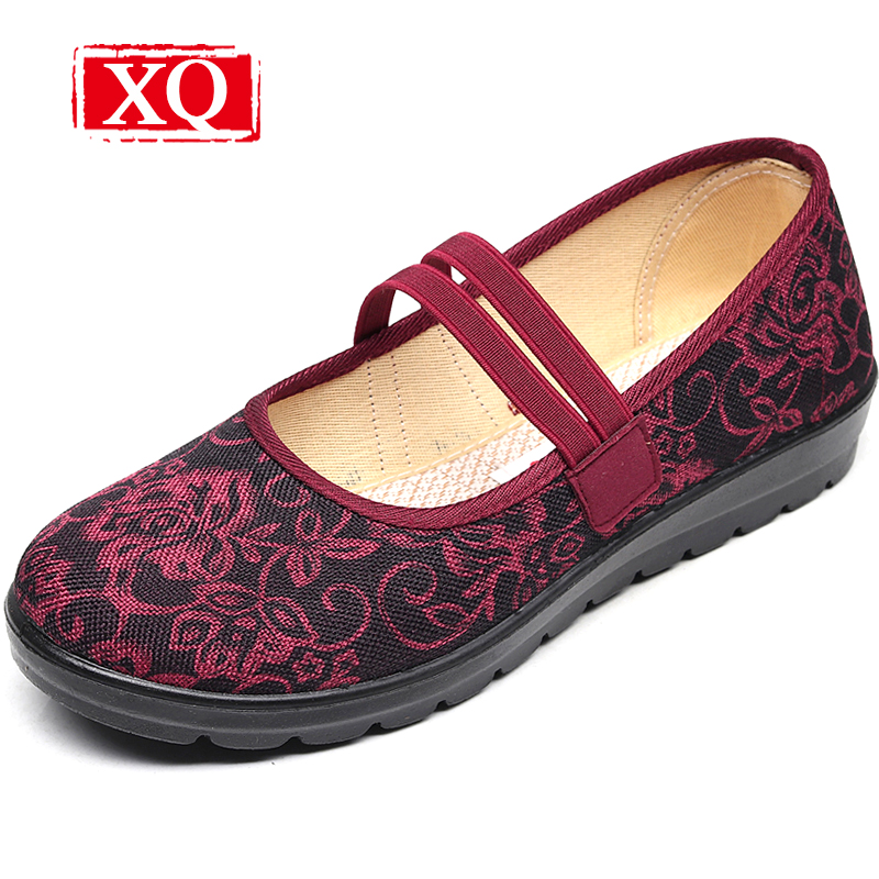 XQ 2018 Mar. New Women Shoes Brand Casual Cloth Shoes Non-slip Flats Shallow Spring Loafer Comfortable Round Toe Shoes L147