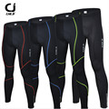 CHEJI Gel Padded Cycling Long Pants Spring Autumn Ropa Ciclismo Bicycle Bike Trousers Running Fitness Compression Tights For Men