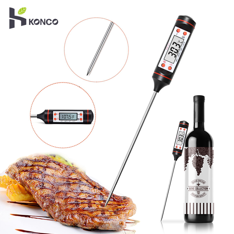 Lcd-Screen Meat KONCO With Kitchen For Grills Bbq-Smoker Wine-Tools Digital Cooking Instant-Read