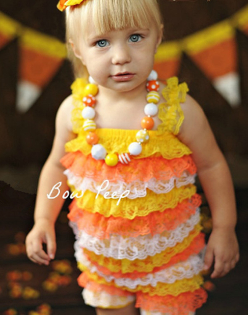 Baby Candy Corn Lace Romper Halloween Lace Petti Rompers Infant Girl Halloween Costume Outfit Romper Leg  sc 1 st  AliExpress.com & Baby Candy Corn Lace Romper Halloween Lace Petti Rompers Infant Girl ...