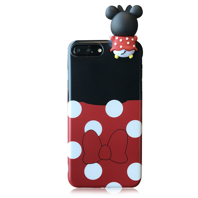 3d toys Minnie Mickey Mouse Phone Case For iPhone 7 7plus