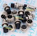 Kostenloser versand 5set GX16 GX16-4 4P 4Pin 16mm Male & Female Draht Panel Stecker stecker Rund Luftfahrt stecker Buchse Stecker