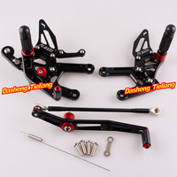 CNC Motorcycle Rearset Rear Set Foot Pegs For Yamaha YZF R6 2006 2007 2008 2008 2009 2010 2011 2012 2013 2014 2015 2016 Aluminum