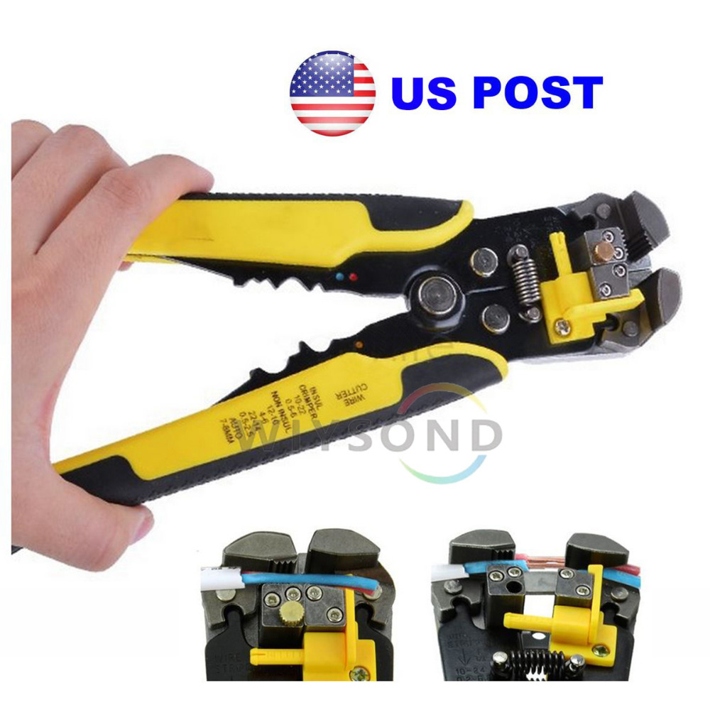 TL022 Professional AutomaticSelf-adjusting Cable Line Wire Stripping Tool Stripper Cutter Crimper Pliers for 10 - 24 AWG Wire professional wire cutter stripper automatic crimper pliers terminal tool cutting crimping stripping tools