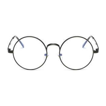 Radiation-resistant Reading Glasses Men Women Anti Blue Rays Computer Glasses Unisex Flat Vintage Round  Eyeglass Alloy  Frames