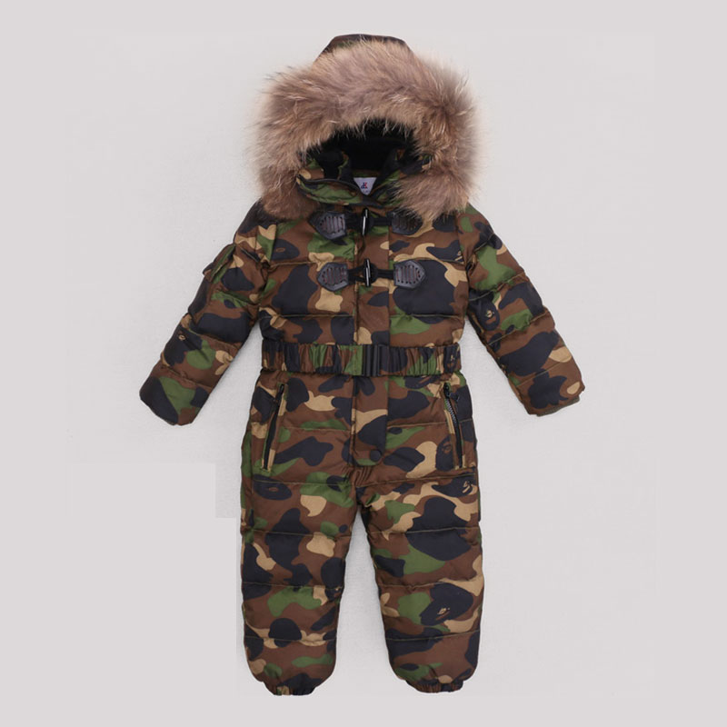 Baby Snowsuit 2017 Winter Baby Boys Rompers Warm Overalls for Baby Girls Newborn Clothes Parka Thicken Down Baby Romper cotton baby rompers set newborn clothes baby clothing boys girls cartoon jumpsuits long sleeve overalls coveralls autumn winter