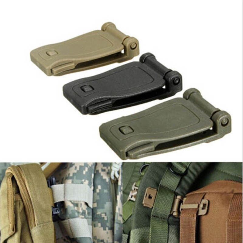 EDC Small Tool Molle Strap Buckle Backpack Bag Webbing Connect Clip Clasp Outdoor Camp Hike Fitness Equipment Accessories