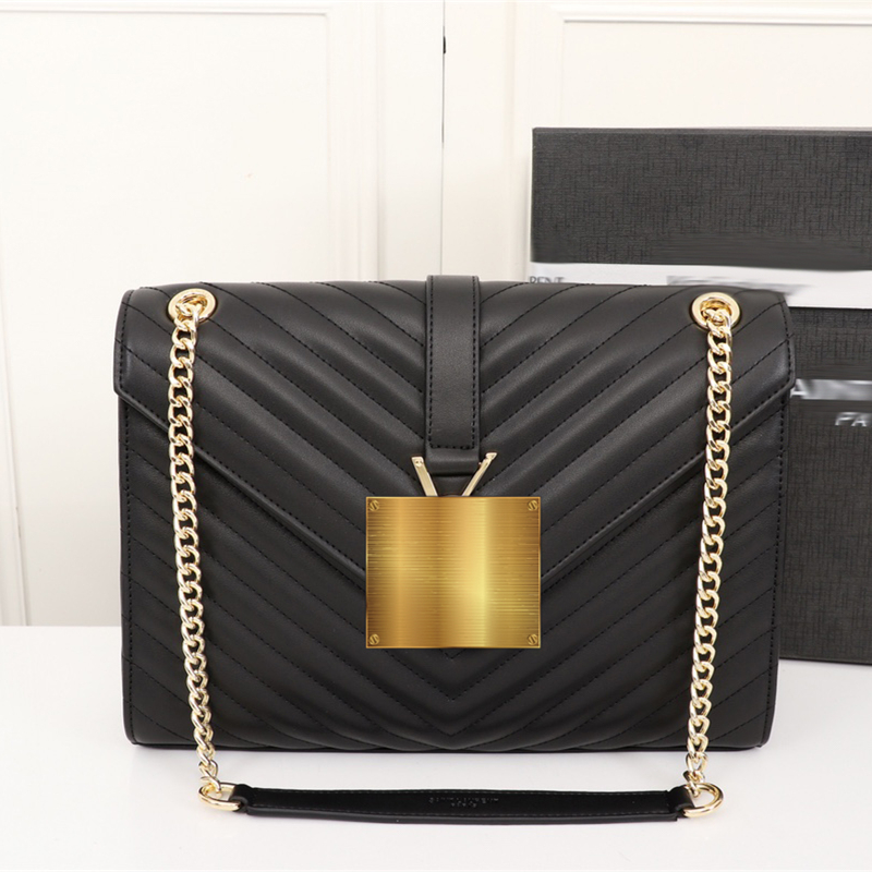 2018 Famous Brand Luxury Designer Shoulder Bag for Women Messenger Bag Chains Chain Bags Black jonon luxury brand designer messenger bag women 100