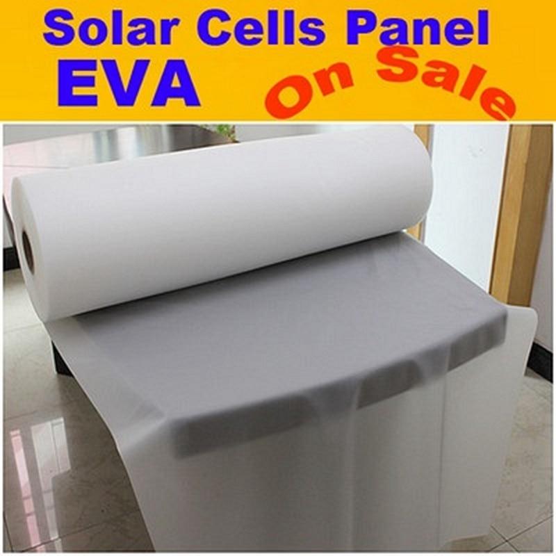 1M x 8M DIY Solar Panel Film EVA Sheet For Photovoltaic Cells Encapsulation