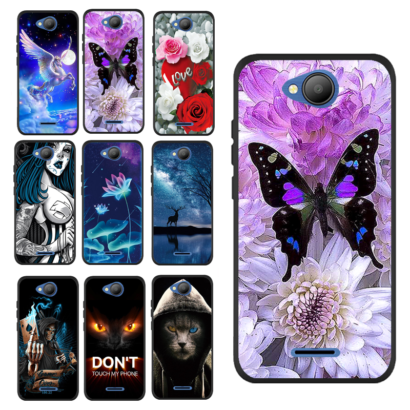For BQ 4501 G Butterfly With Purple Flower Beautiful Case For BQ-4501G Fox Easy Cover