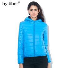 HYDIBER Hooded Winter Jacket Women Parkas 2018 New Fashion Casual Autumn Women's Candy-colored Coat Long Sleeve Outerwear 538TN