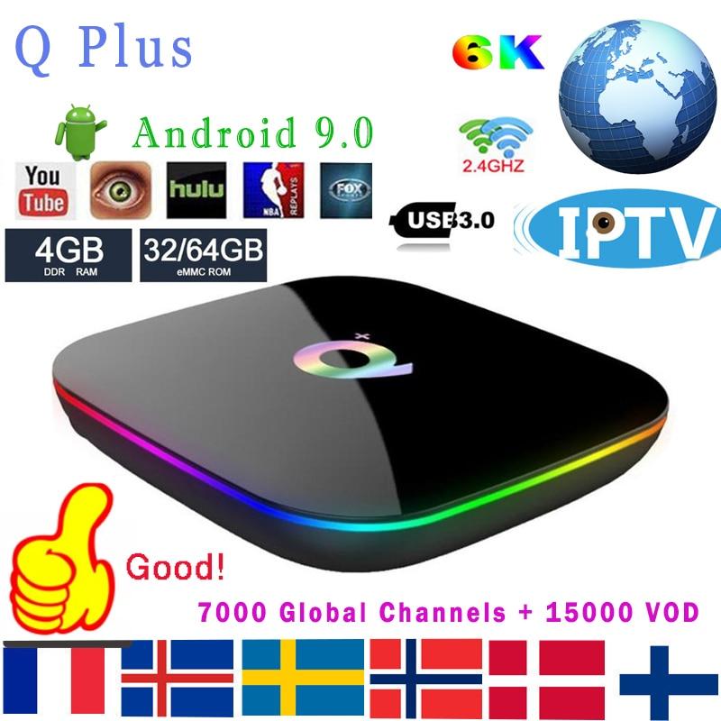IPTV Q Plus Smart TV Box Android 9 0 TV Box 4GB Ram 64GB 32GB Rom