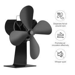 Ventilador superior de la estufa alimentada por calor 4 cuchillas ecológico ventilador para hogar silencioso quemador de madera/troncos 17% ahorro de combustible