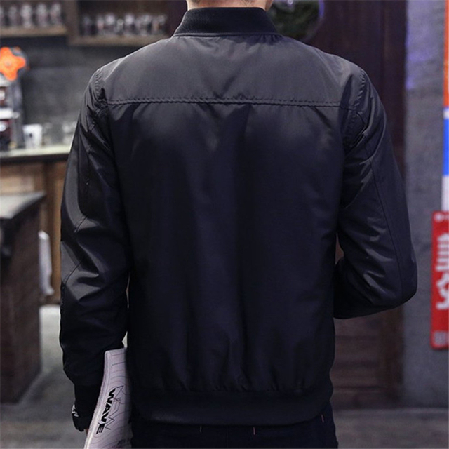 2019 Spring Autumn Casual Solid Fashion Slim Bomber Jacket Men Overcoat Baseball Jackets Men's streetwear Jacket 4xl Top XT380