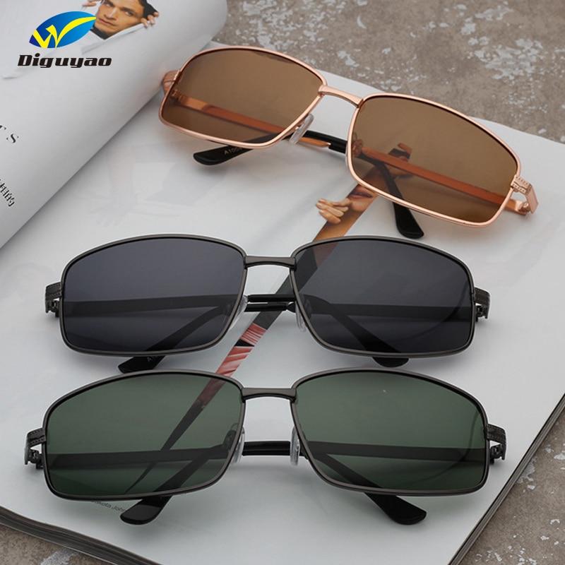 ac07558111 Nueva moda de gafas de TAC lente polarizada clásico gafas de sol de UV400  mujeres Metal cuadrado Marco de gafas de sol de la marca de los hombres  gafas de ...