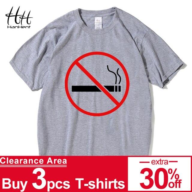 c5405a14faf76 HanHent No fumar logotipo camisetas amor tu vida redondo cuello de los  hombres de verano Tops
