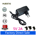 AC Converter Adapter DC 5V 2A Power Supply Charger 5.5mm x 2.1mm 5.5*2.5mm 2000mA EU US UK AU PLUG