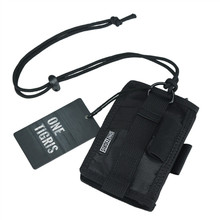 ФОТО onetigris id card holder credit card organizer neck lanyard key ring wallet tactical badge holder as outdoor tool