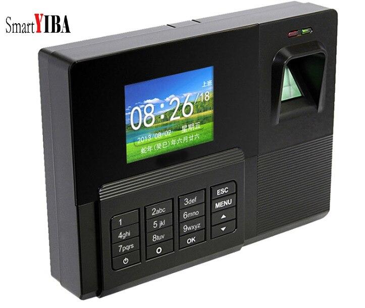 Horloge biométrique de présence d'empreintes digitales SmartYIBA tcp/ip + lecteur de carte d'identité + enregistreur USB enregistreur d'enregistrement des employés