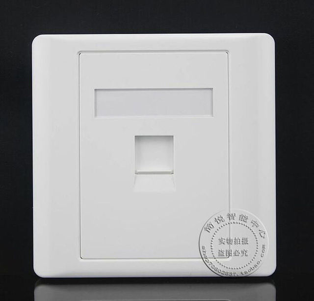 Wall Socket Plate One Single Port Network Ethernet LAN CAT6 Outlet ...