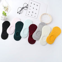 New non-slip stripes invisible socks ladies boat socks summer sweat-absorbent casual socks(China)