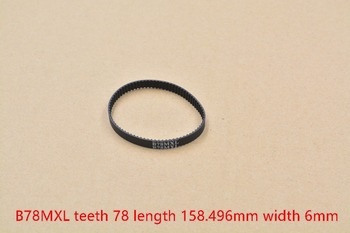 3d printer belt 62MXL B78MXL closed loop rubber timing teeth 78 length 158.496mm width 6mm image