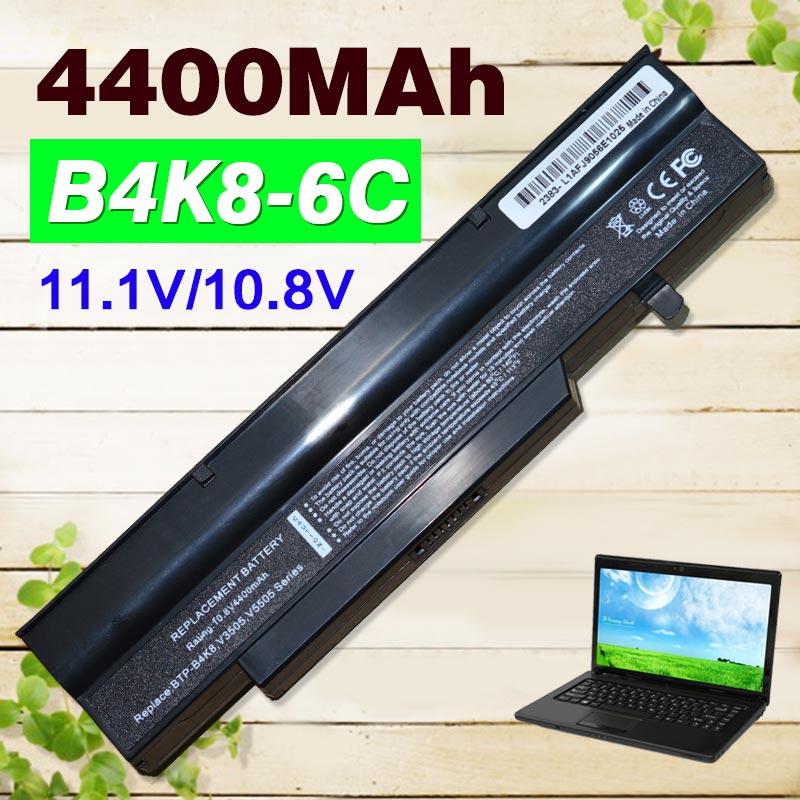 4400 mAh batería del ordenador portátil B4K8 MS2216 MS2228 MS2238 MS2239 V5545 para Fujitsu Esprimo móvil V5505 V5545 V6505 V6535 V6545 V6555