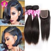 unice peruvian straight with closure 3 bundles with closure short natural black hairstyles peruvian straight hair weave
