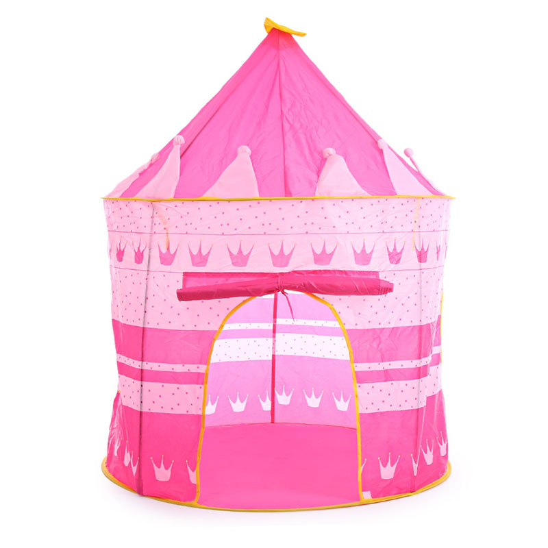 3 Colors Kids Toy Tents Children Folding Play House Portable Outdoor Indoor Toy Tent Princess Prince Castle Cubby Playhut Gifts new arrival indoor outdoor large children s house game room children s toys 3 in 1 square crawl tunnel folding kid play tent