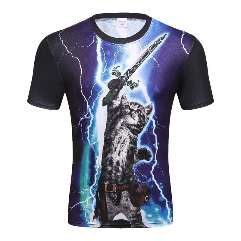 Hot Fashion Men's   T     Shirt   Brand 3d Funny Print Flash cat Tupac 2Pac Man Brand   T  -  shirt   Summer Tops Tees drop ship